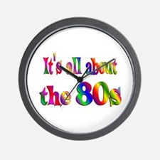 All About 80s Wall Clock