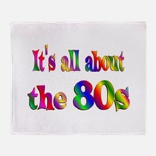 All About 80s Throw Blanket