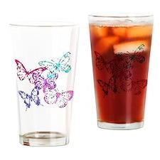 Butterflies Pint Glass