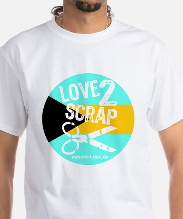 Love 2 Scrap - Bahamas White T-Shirt