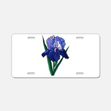 Stained Glass Iris Aluminum License Plate