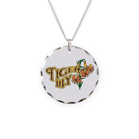 Tigerlily Necklace Circle Charm