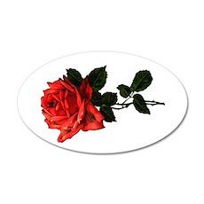 Victorian Garden Rose 22x14 Oval Wall Peel