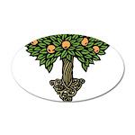 Art Nouveau Orange Tree 38.5 x 24.5 Oval Wall Peel