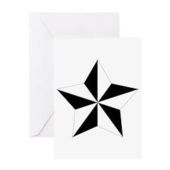 5-pointed Pentagram Star Greeting Card