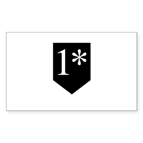 One Asterisk Sticker (Rectangle)