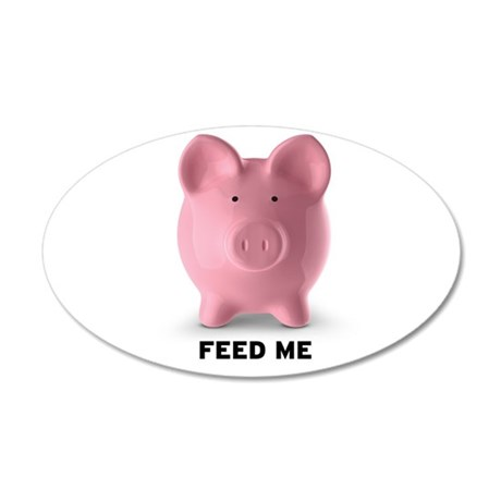 Feed Me 38.5 x 24.5 Oval Wall Peel