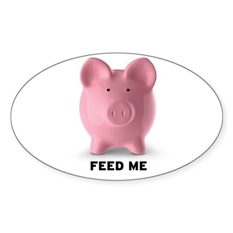 Feed Me Sticker (Oval 10 pk)