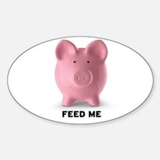 Feed Me Sticker (Oval)