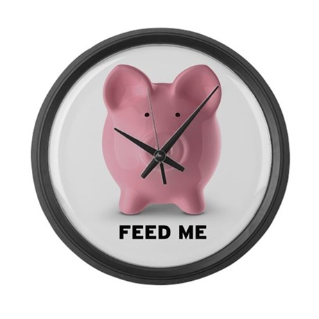 Feed Me Large Wall Clock