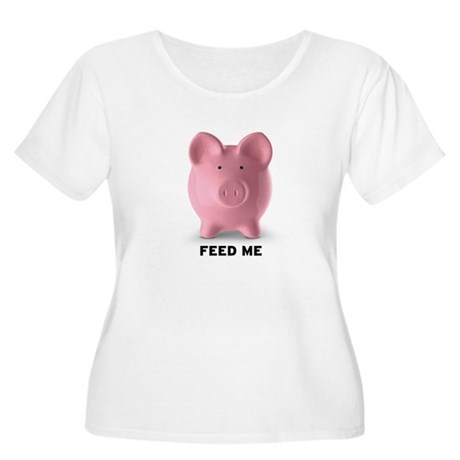 Feed Me Women's Plus Size Scoop Neck T-Shirt