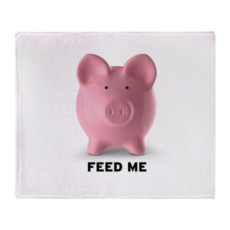 Feed Me Throw Blanket