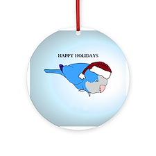 Santa Blue Quaker Ornament