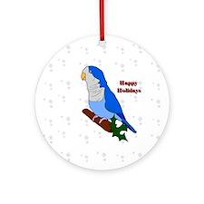 Blue Quaker Ornament 2