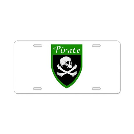 Pirate Green Patch Aluminum License Plate