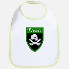 Pirate Green Patch Bib