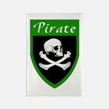 Pirate Green Patch Rectangle Magnet