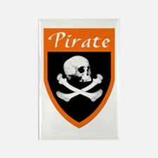 Pirate Orange Patch Rectangle Magnet
