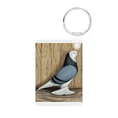 WOE Blue Baldhead Pigeon Keychains