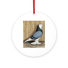 WOE Blue Baldhead Pigeon Ornament (Round)