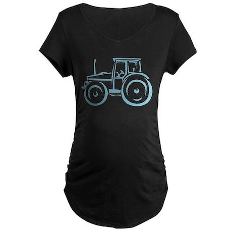 Farm Tractor Maternity Dark T-Shirt