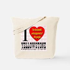 I Love Yellowstone National P Tote Bag