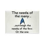 Needs of the Many Rectangle Magnet (10 pack)