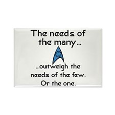Needs of the Many Rectangle Magnet (100 pack)