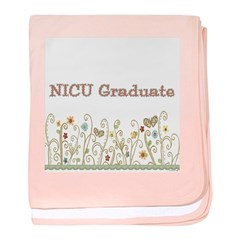 Girl's NICU Graduate baby blanket