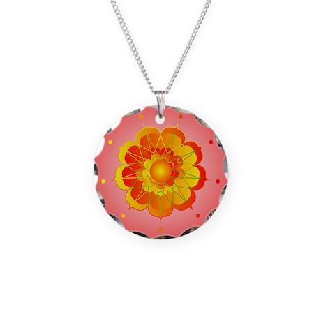 Spiritual Sunshine Necklace Circle Charm