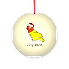 Lutino Santa Lovebird Ornament