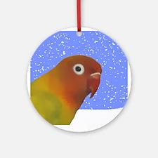 Fischer's Lovebird Art Holiday Ornament