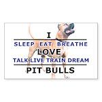 Sleep, Eat, Breathe Sticker (Rectangle 10 pk)