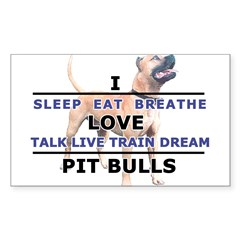 Sleep, Eat, Breathe Sticker (Rectangle 10 pk)