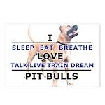 Sleep, Eat, Breathe Postcards (Package of 8)