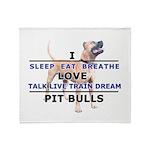 Sleep, Eat, Breathe Throw Blanket