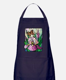 Stained Glass Iris and Butter Apron (dark)