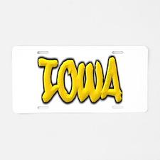 Iowa Graffiti Aluminum License Plate