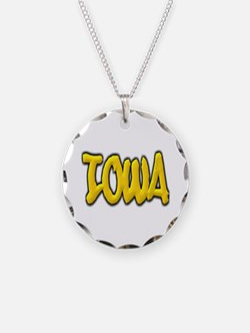 Iowa Graffiti Necklace