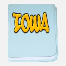 Iowa Graffiti baby blanket
