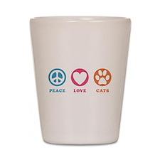 Peace Love Cats [r] Shot Glass