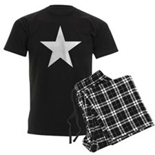 White 5-Pointed Star Pajamas