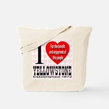 I Love Yellowstone Establishe Tote Bag