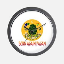 Born Again Pagan Wall Clock