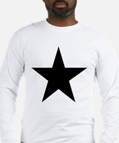 Black 5-Pointed Star Long Sleeve T-Shirt