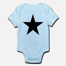 Black 5-Pointed Star Infant Bodysuit