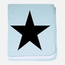Black 5-Pointed Star baby blanket