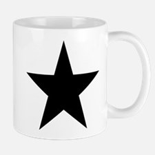 Black 5-Pointed Star Mug