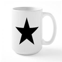 Black 5-Pointed Star Large Mug