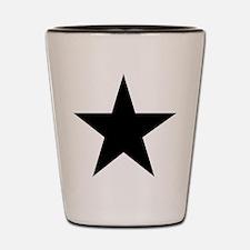Black 5-Pointed Star Shot Glass